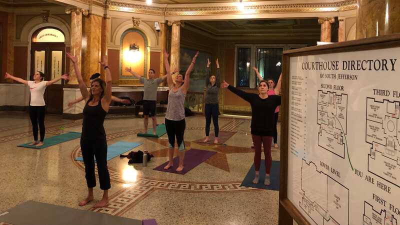 Yoga at Brown County Court House