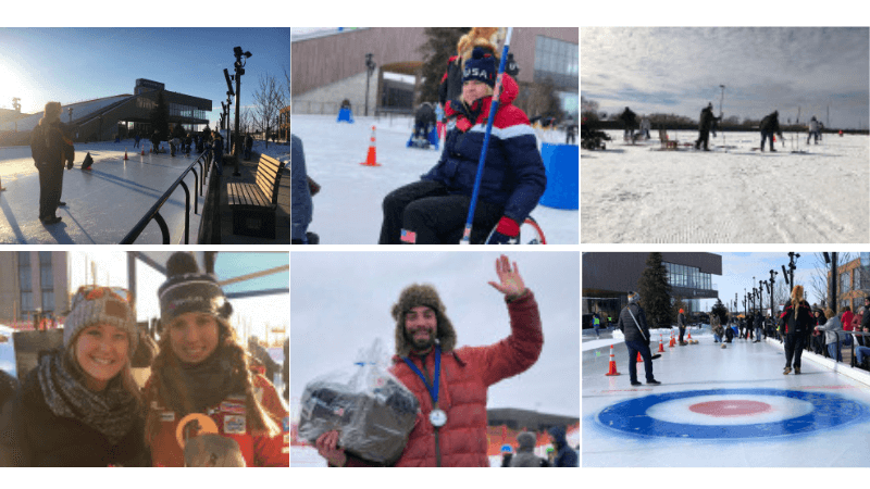 Titletown Winter Games Collage